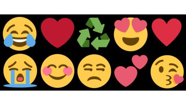 lista de 10 emojis mais usados