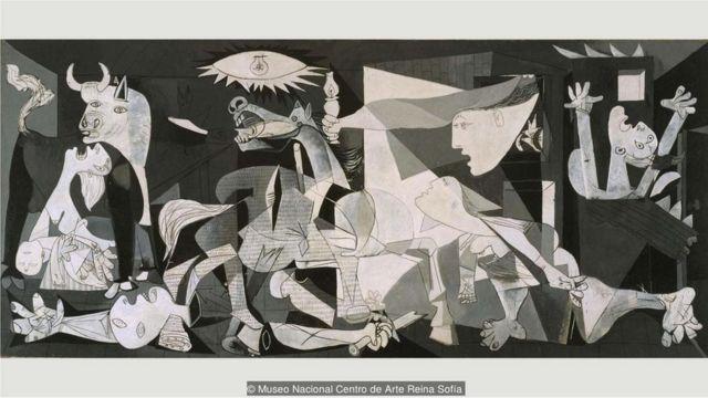 Picasso-nun 'Guernica' adlı əsəri müharibə səhnələrinin simvoluna çevrilib