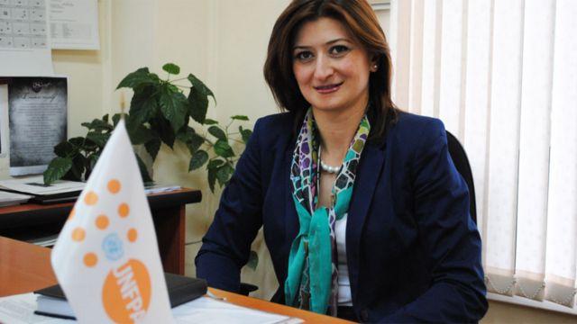 Tsovinar Harutyunya, directora de programas del Fondo de Población de Naciones Unidas en Armenia