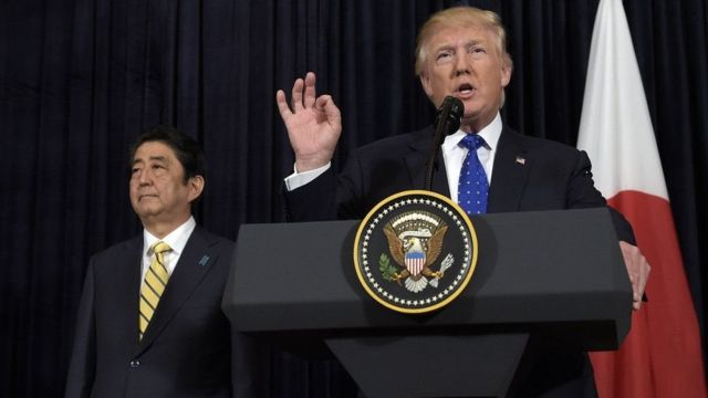Trump avuga ko Amerika iri kumwe n'Ubuyapani 100%