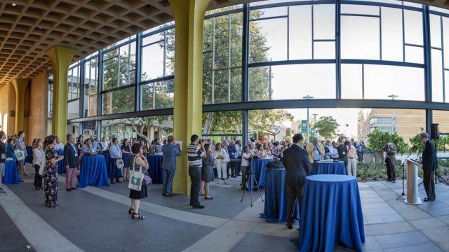مراسم افتتاحیه دوازدهمین همایش ایرانپژوهی در دانشگاه شهر ارواین در ایالت کالیفرنیای آمریکا