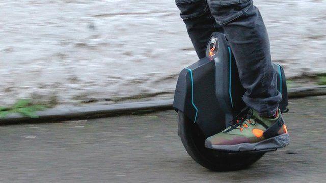 A man riding Uniwheel
