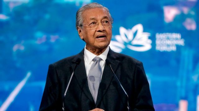 2019年9月馬來西亞總理馬哈蒂爾