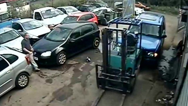 CCTV footage at the Yandell family garage