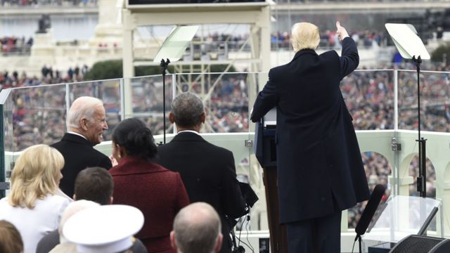 Joe Biden at Trump's inauguration