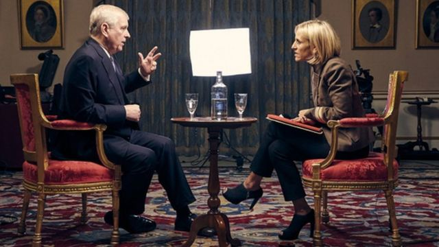 Prens Andrew ve BBC sunucusu Emily Maitlis