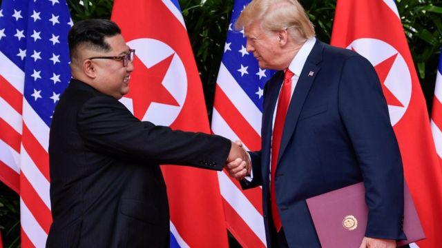 金正恩与特朗普新加坡峰会