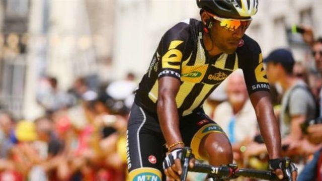 Le cycliste érythréen Daniel Teklehaimanot