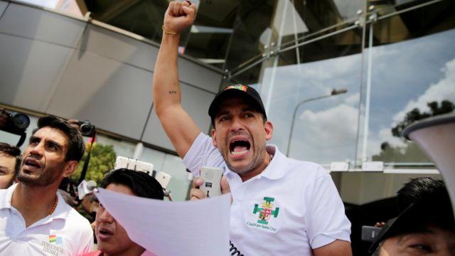 El presidente del Comité Cívico de Santa Cruz, Luis Fernando Camacho.