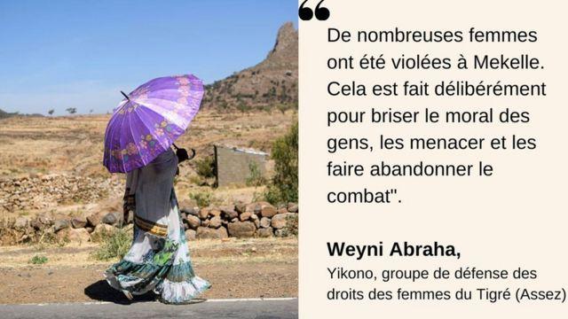 L'activiste Weyni Abraha confirme de nombreux cas de viols au Tigré