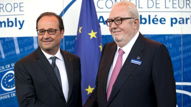 AŞPA sədri Pedro Agramunt Fransa prezidenti ilə