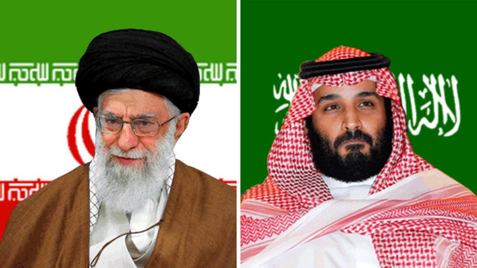 Ali Khamenei e Mohammed bin Salman