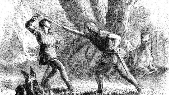 Duelo con espadas siglo XVI
