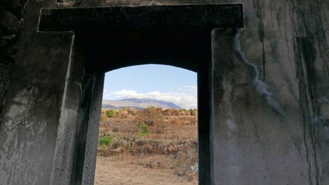 El monte Etna visto desde la casa de Blanco