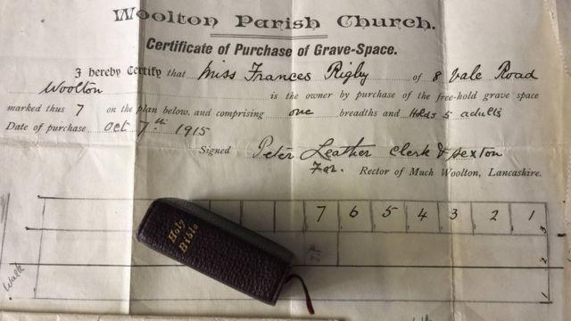 Documentos da tumba de Eleanor Rigby