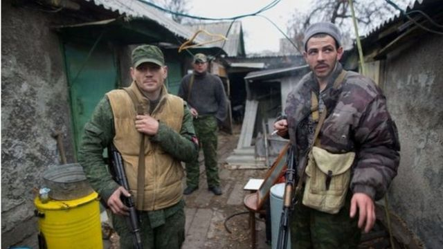 Separatistas rusos en Donetsk