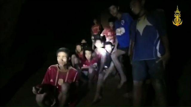 Los niños encontrados en la cueva