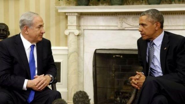 الرئيس الأمريكي باراك أوباما ورئيس الوزراء نتنياهو