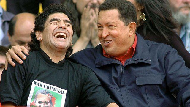 Maradona y Chávez