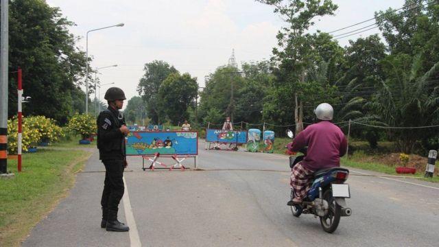 Pos pemeriksaan tentara Thailand