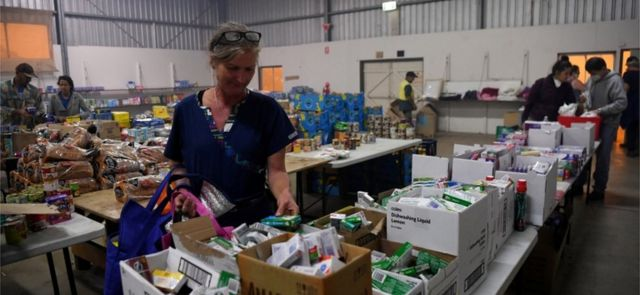 A donation centre in Carbargo, NSW