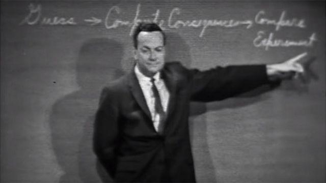 Feynman en conferencia