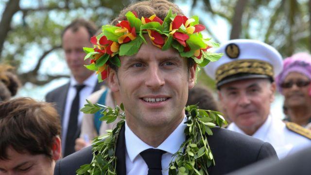 Emmanuel Macron en Nueva Caledonia, mayo de 2018