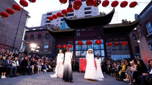 Chinatown is right in the centre of Melbourne and has hosted numerous events such as this fashion show in 2019(photo:BBC)