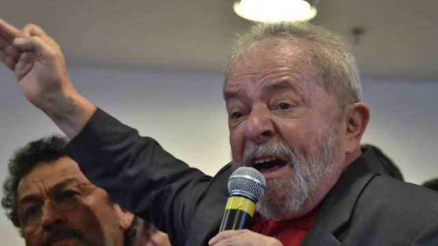 Lula em discurso de resposta a denúncia de procuradores da Lava Jato, na semana passada