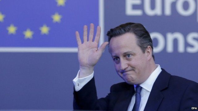 David Cameron leaves the EU summit in Brussels