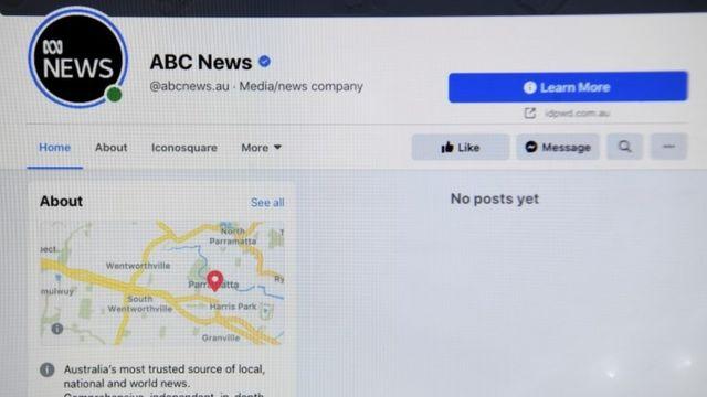 El perfil de ABC News de Australia en Facebook
