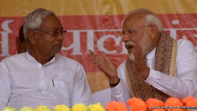 நிதீஷ் குமார் மற்றும் நரேந்திர மோடி
