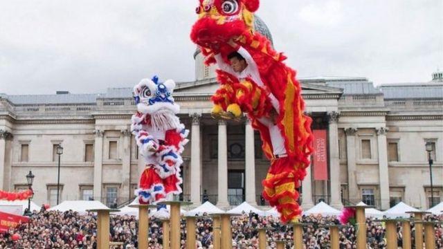 Año Nuevo Chino en Londres 2018.