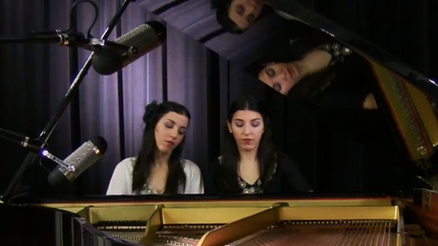 Twin pianists Hourshid and Mehrshid Afrakteh