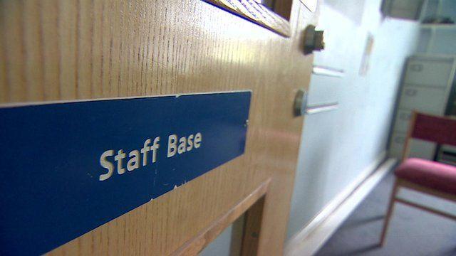 NHS staff door