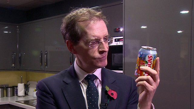 David Sillito looks at a drink can