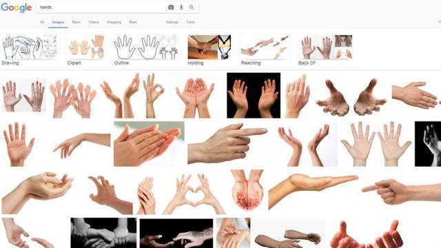 """Результат поиска в Google по запросу """"руки"""""""