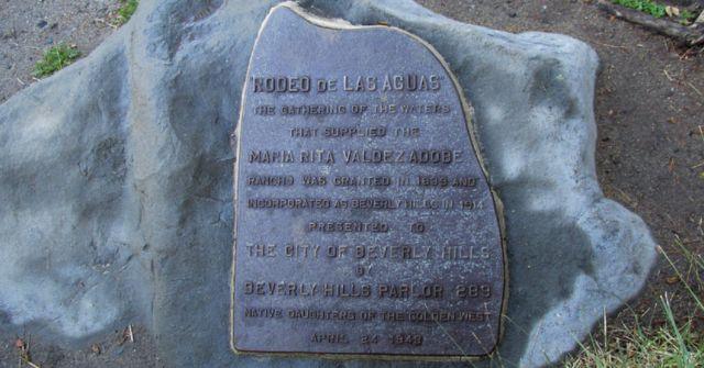 The plaque commemorating Maria Rita Valdez in Beverly Hills.