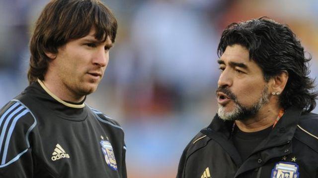 Lionel Messi na Diego Maradona