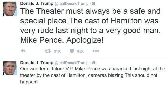 डोनल्ड ट्रंप का ट्वीट