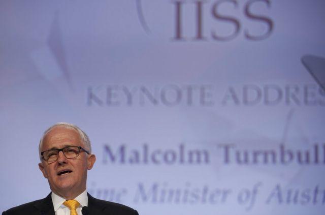 """澳大利亚总理特恩布尔在香会发表主题演讲时多次谈到""""地区规则""""的重要性"""