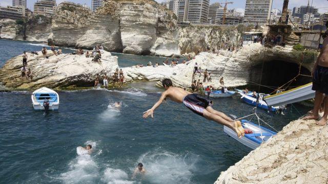 黎巴嫩海濱休假地