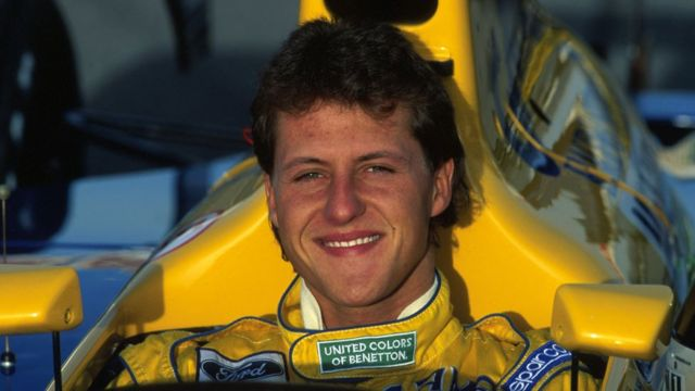 Michael Schumacher en 1992.