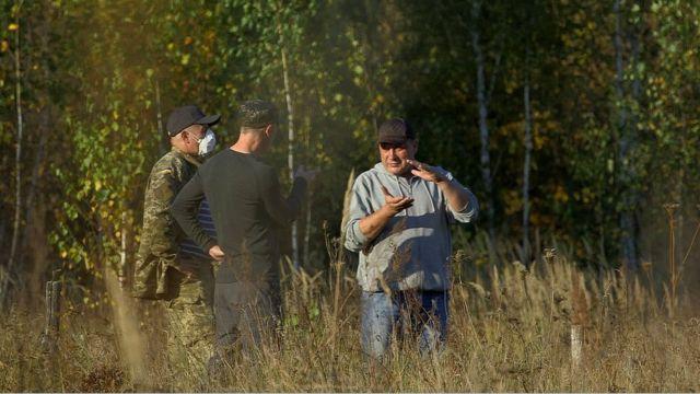 Scientist inside Chernobyl exclusion zone