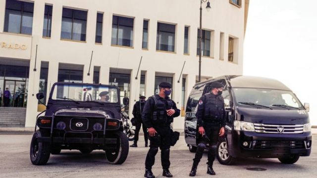 Policías en las calles