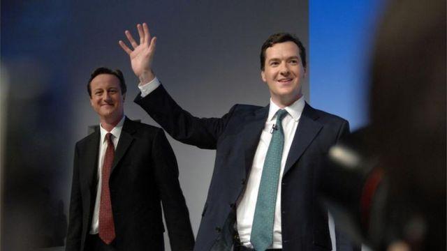 David Cameron e George Osborne