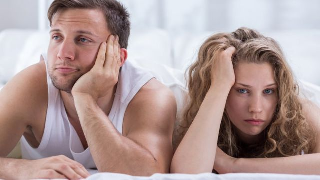 Man and women lacking interest in bed