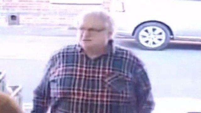 A man caught on CCTV