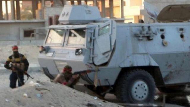 صورة نشرتها الجماعة المتشددة للعمليات في سيناء (صورة أرشيفية)