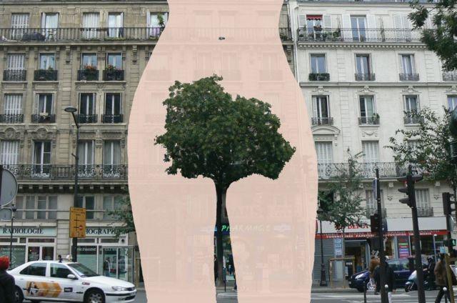 フランスのストリートアーティスト、サンドリーヌ・ブーレさんは、女性の体毛を繰り返し題材にしている